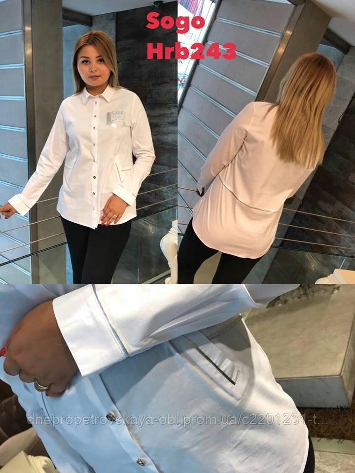 Женская рубашка Sogo 2019 батал. Турция бренд люкс