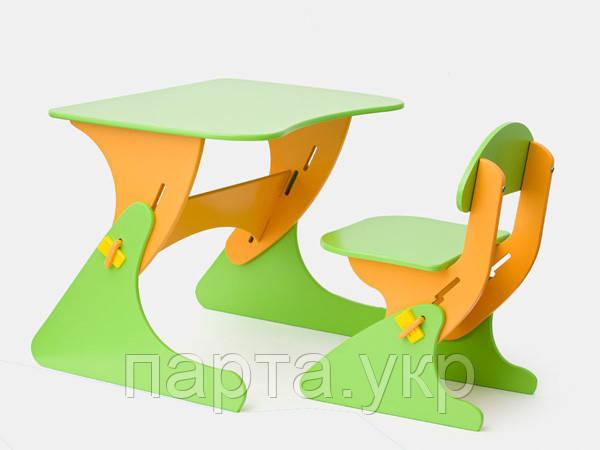Детский стул и стол растущий, цветной