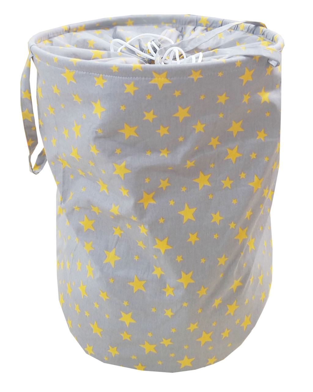 Мішок для зберігання іграшок, 40*50 см, (бавовна), Зірки на сірому