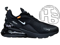 Мужские кроссовки Off-White x Nike Air Max 270 Triple Black AH6789-120