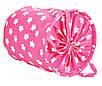 Мішок для зберігання іграшок, 40*50 см, (бавовна), Зірки на рожевому, фото 2
