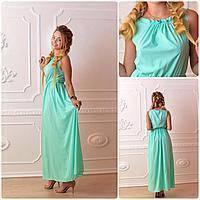 Платье длинное, М-1, цвет ментол