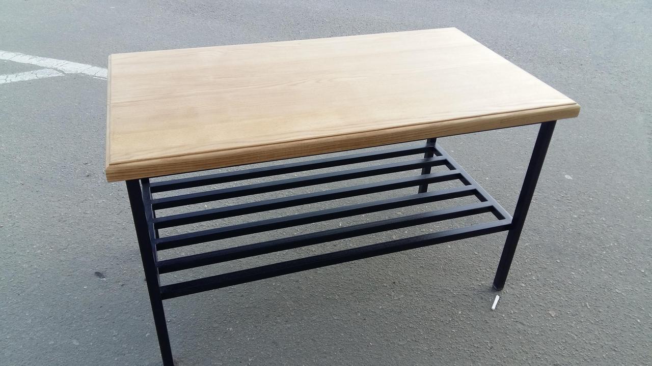 журнальный столик из натурального дерева и металла цена 3 600 грн