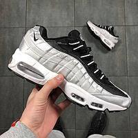 Мужские кроссовки в стиле Nike  Air Max 95 Gray and Black (Реплика ААА+), фото 1