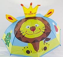 """Детский зонтик с ушками на 2-6 лет от фирмы """"Flagman""""."""