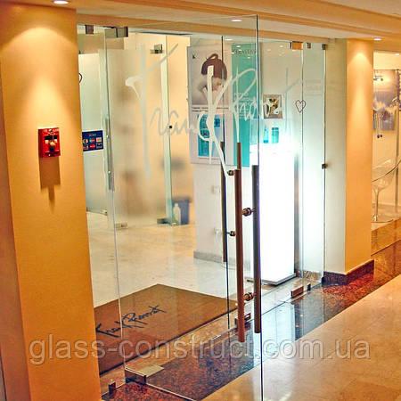 Стеклянные двери маятниковые Glass Construct Харьков