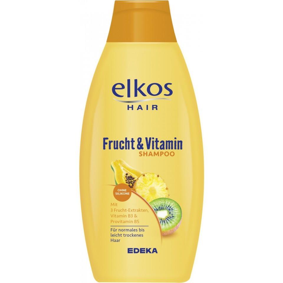 Шампунь Elkos 500 мл Frucht & Vitamin Фрукты и витамины