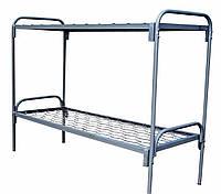 Кровать 2-х ярусная, металлическая спинка
