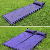 Коврик для кемпинга (матрас) самонадувающийся с подушкой SY-118