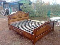 Ліжко двоспальне з натурального дерева. Приймаємо індивідуальні замовлення за Вашими розмірами.0683730030