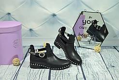 Ботинки кожаные Royal Shoes 329 Черные