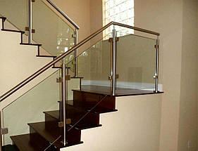 Алюминиевые перила со стеклом, фото 2