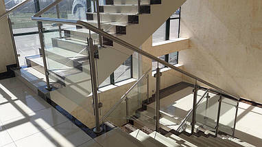 Алюминиевые перила со стеклом, фото 3