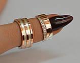 Пара обручальных колец из серебра с вставками из золота, фото 5