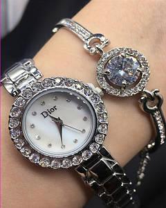 Часы подарочные наборы DIOR Silver