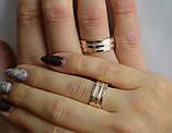 Обручальное кольцо из серебра с вставками из золота, фото 7