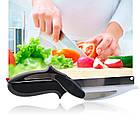 Clever Cutter универсальный умный нож/ кухонные ножницы 2 в 1, фото 2