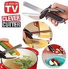 Clever Cutter универсальный умный нож/ кухонные ножницы 2 в 1, фото 7