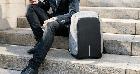 Рюкзак Bobby Бобби антивор Серый с USB, часы Swiss Army в подарок, фото 8