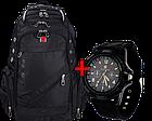 Швейцарский рюкзак SwissGear 8810 с USB, AUX и часами Swiss Army в Подарок, фото 4