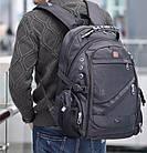 Швейцарский рюкзак SwissGear 8810 с USB, AUX и часами Swiss Army в Подарок, фото 5