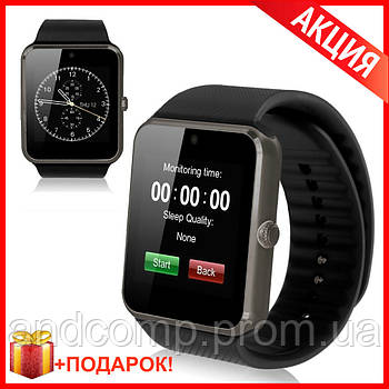 Смарт Часы GT 08 Black Smart Watch Черные Умные часы - аналог Apple iWatch Черные