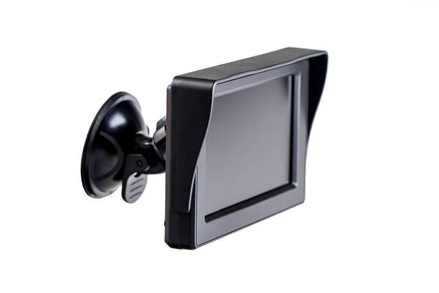 Цветной автомобильный монитор 5'' с 2-мя видеовыходами для камеры заднего вида
