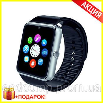 Smart Watch GT08 SILVER умные Смарт часы Серебро аналог IWatch от Apple