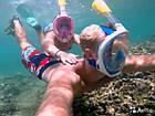 Подводная маска для плавания и сноркелинга Easybreath Голубая BLUE, фото 3