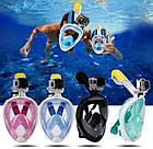 Подводная маска для плавания и сноркелинга Easybreath Голубая BLUE, фото 6