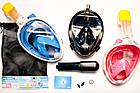 Подводная маска для плавания и сноркелинга Easybreath Голубая BLUE, фото 9