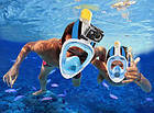 Подводная маска для плавания и сноркелинга Easybreath Голубая BLUE, фото 10