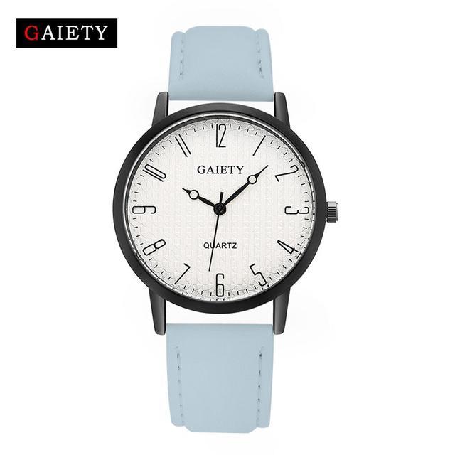 Женские наручные часы Gaiety с голубым ремешком