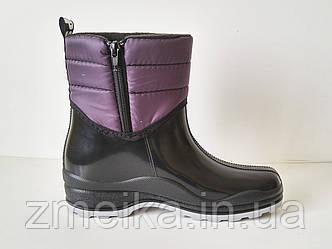Резиновые сапоги женские на змейке Фиолет