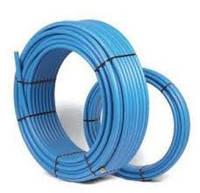 Труба водопроводная синяя ПНД Ф32 (6 атм.) Delta