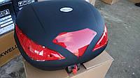 Кофр для мотоцикла (2 шлема) HF-885 черный мат