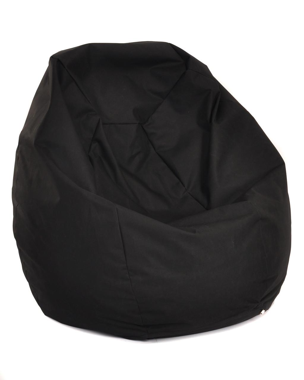Пуф Груша Размер ХL 110*90 см, оксфорд черный