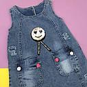 Джинсовый сарафан с кармашками 5-6-7-8 лет, фото 2