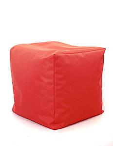 Пуф куб Оксфорд 40х40х40 см, красный