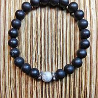 Браслет из шунгита(натуральный камень) ручной работы бренда EmitLight