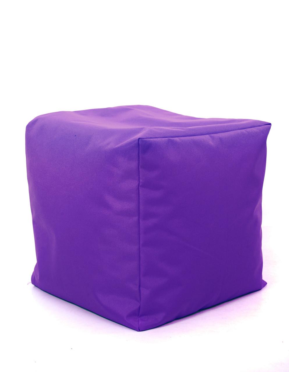 Пуф куб Оксфорд 40х40х40 см, фиолетовый
