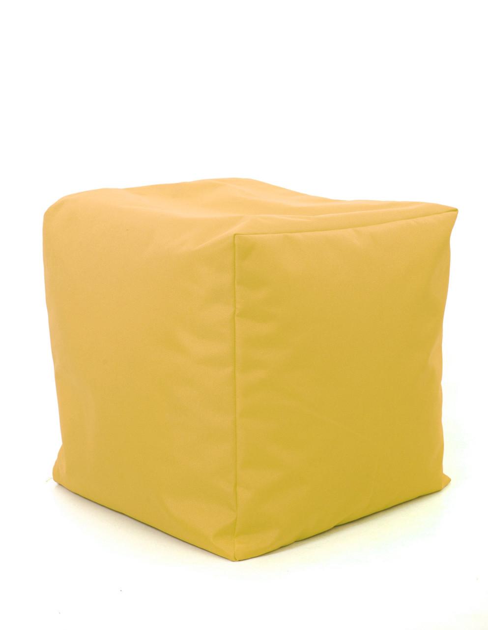 Пуф куб Оксфорд 40х40х40 см, желтый