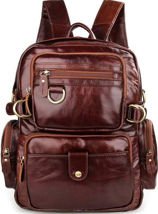 8f2cbae8b656 Рюкзак Vintage 14520 кожаный Коричневый, Коричневый - Torba Super в Харькове