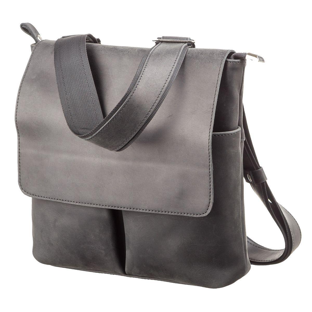 3bb5171bf43b Удобная черная сумка из натуральной кожи SHVIGEL 11078 - Цена ...