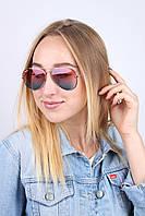 Очки имиджевые авиатор R3025 розовый+голубой