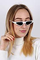 Cолнцезащитные женские очки ретро BJ5168 белые