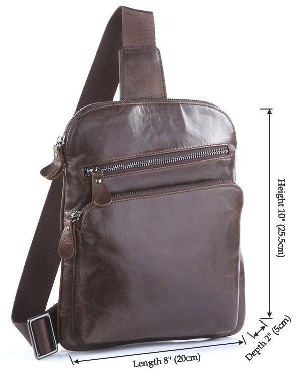 4acbc06f357e5 Коричневая мужская повседневная кожаная сумка Vintage 14185 - Цена ...
