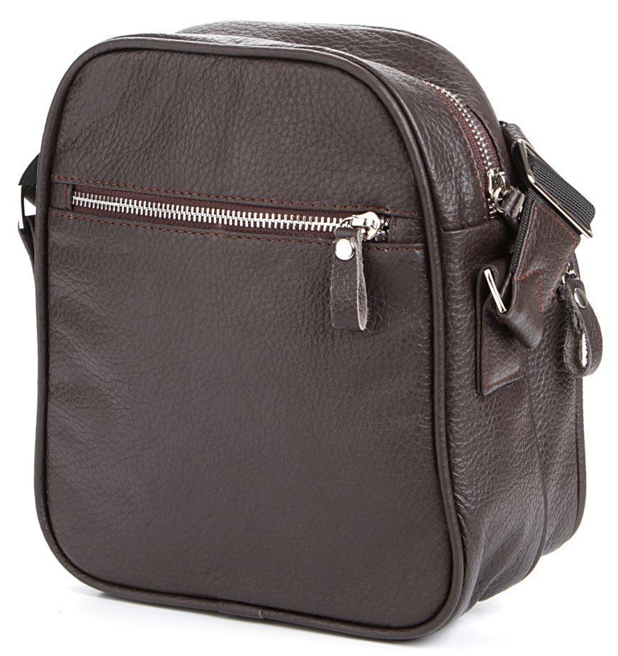 c0f2178c22b8 Коричневая мужская сумка кожаная городская SHVIGEL 00899 - Цена ...