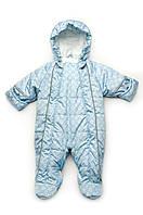 Зимний комбинезон для малышей от рождения до 1 года, голубой