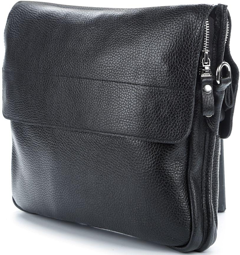 c84f934be72e Удобная кожаная повседневная сумка SHVIGEL 00997 Черная - Цена ...